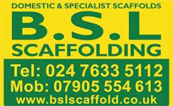 BSL Scaffolding Sign Logo